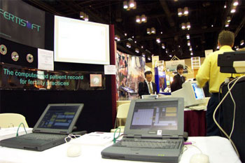 Kiosque FertiSoft à ASRM Orlando Octobre 2001